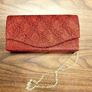 Beautiful Red evening bag/ clutch